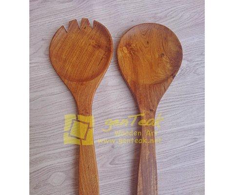 salad spoon wood, big spoon